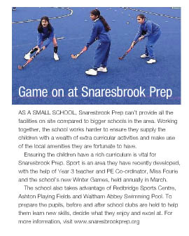 Game on at Snaresbrook Prep