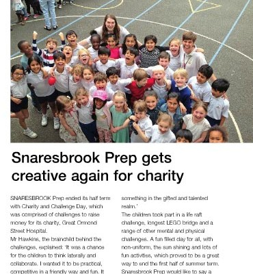 Snaresbrook Prep Gets Creative Again for Charity