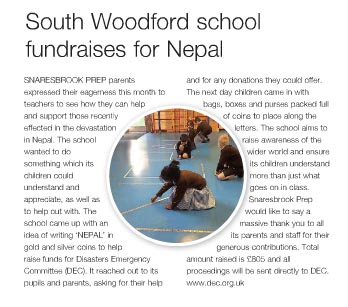 South Woodford School Fundraises for Nepal