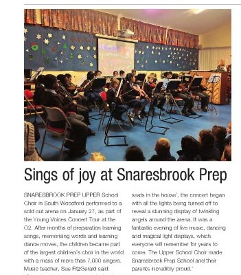 Song of Joy at Snaresbrook Prep