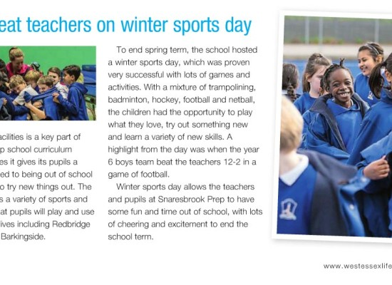 Pupils Beat Teachers on Winter Sports Day
