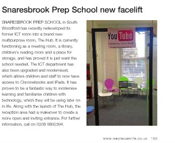 Snaresbrook Prep School New Facelift
