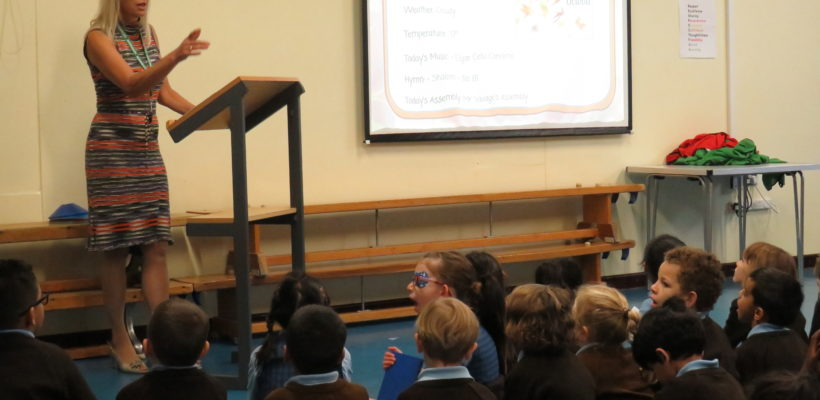 Monday's Assembly with Mrs Chivrell