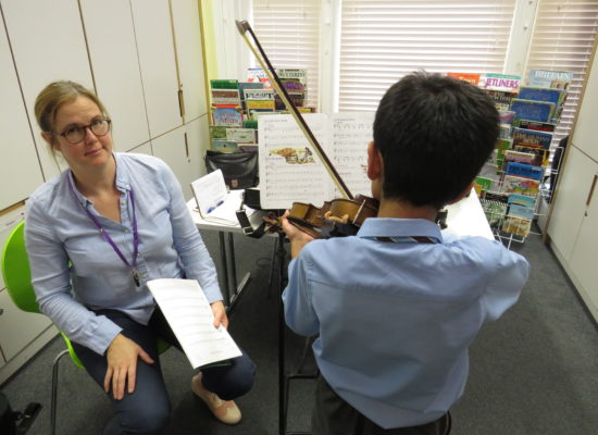 Violin Practise with Mrs Rouse!