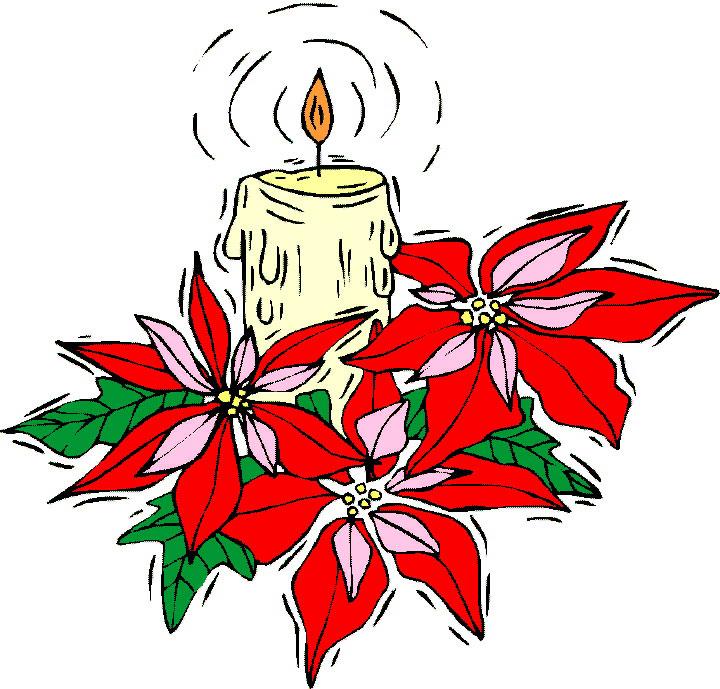 candle xmas plant