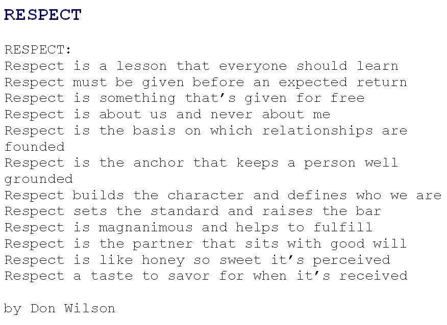 respect-poem